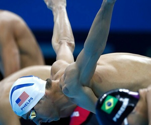 legend, Michael Phelps, and olympics image