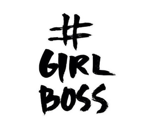 girl, boss, and hashtag image