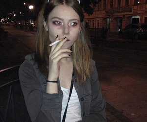 smoke and girl image