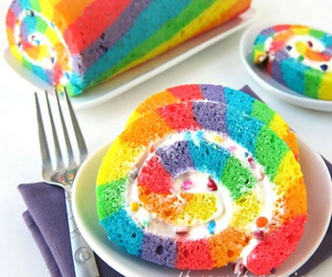 cake, colors, and yummy image