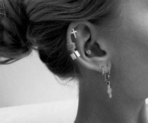 black and white, cool, and cross image