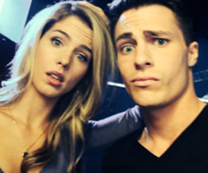 arrow, colton haynes, and felicity smoak image