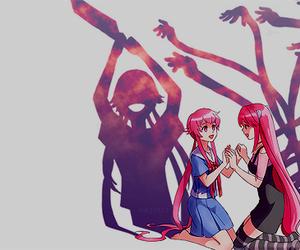 elfen lied, mirai nikki, and Lucy image