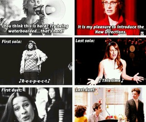 glee, rachel berry, and kurt hummel image