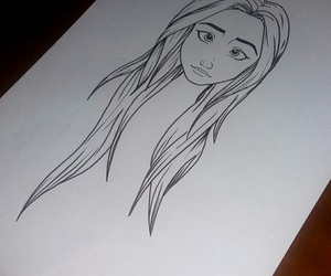 drawing, girl, and sketches image