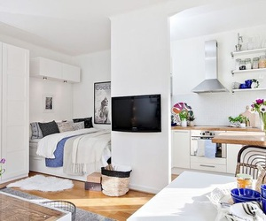 decor, white, and small apartment image