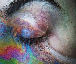 eye, grunge, and rainbow image