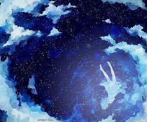 anime, sky, and stars image