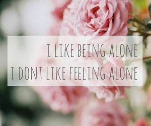 alone, quote, and pink image