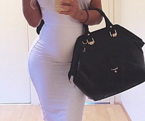 baby bump, dress, and gorgeous image