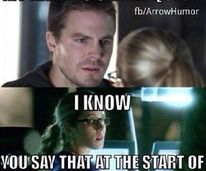 arrow, oliver queen, and funny image