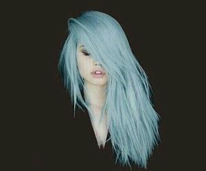 light blue hair blue image