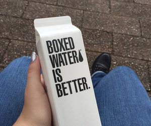 water, tumblr, and boxed water image