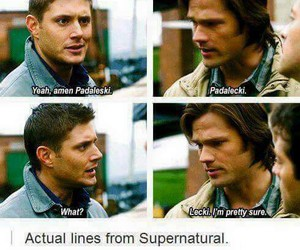 funny, jared padalecki, and Jensen Ackles image