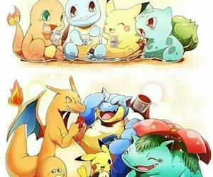 pokemon, pikachu, and bulbasaur image