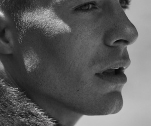 colton haynes, black and white, and boy image