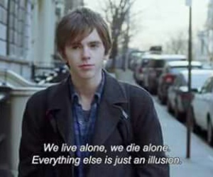 alone, quotes, and illusion image