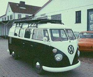 60s, bus, and car image
