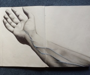 arm, blue, and art image