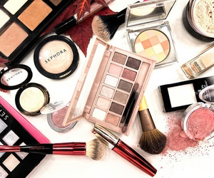 girl, cosmetics, and make up image