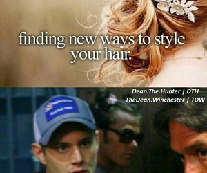 dean winchester, funny, and hair image