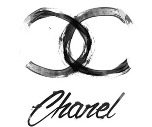 chanel, background, and black and white image