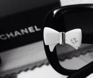 black and white, chanel, and chanel sunglasses image