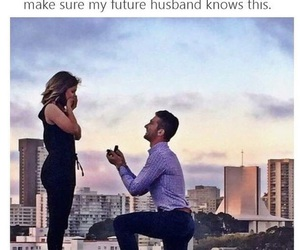 husband, proposal, and love image
