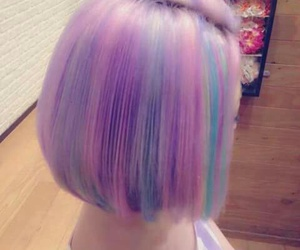 hair, pastel, and colors image