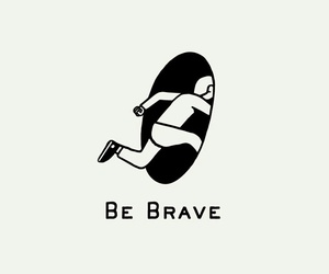 brave, quotes, and art image