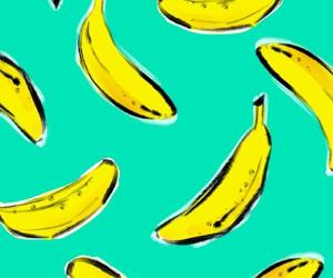 banana, colors, and tropical image