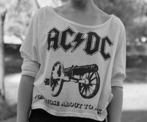 ac dc, ACDC, and black and white image