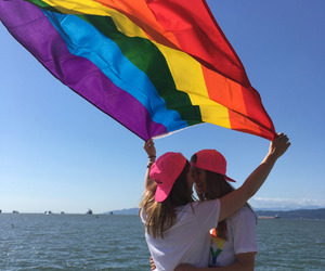 arco iris, Relationship, and besito image
