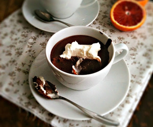 chocolate, custard, and orange image
