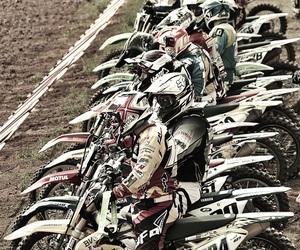 motocross, rider, and dirtbike image