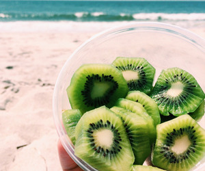 fruit, kiwi, and beach image