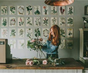 flowers, girl, and 80's image