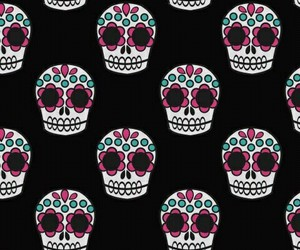 wallpaper, black, and skull image