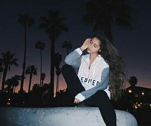 california, city, and girl image