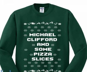 pizza, chrismast, and 5 second of summer image