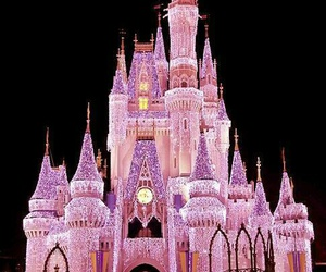pink, disney, and castle image