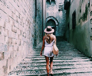 beauty, girl, and town image