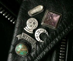 leather, pins, and jacket image