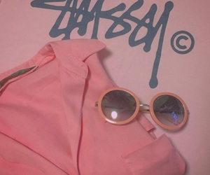 fashion, pink, and stussy image