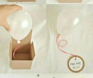 diy, balloons, and gift image