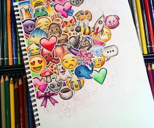 art, drawing, and emojis image