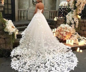 beauty, gown, and wedding gown image