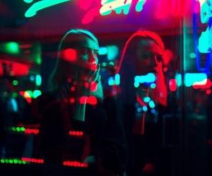 grunge, girl, and light image