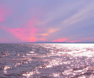 pink, sea, and sky image