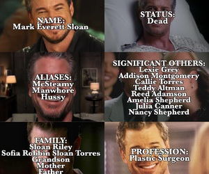 greys anatomy, mark sloan, and mcsteamy image